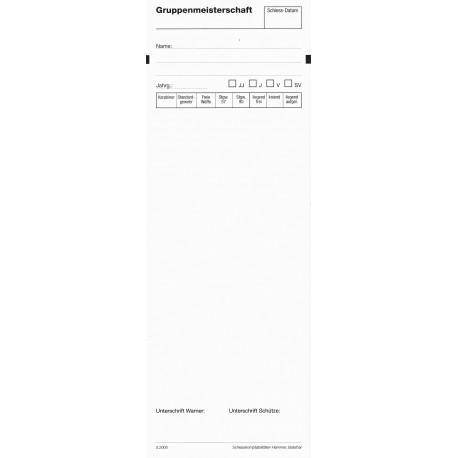 100 Standblatt-Garnituren Gruppenmeisterschaft
