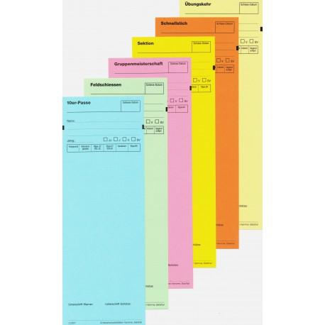 100 Standblattkarten mit Stichname